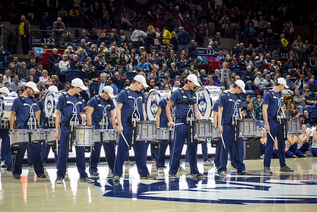 Pep Band & Drumline at Women's Basketball