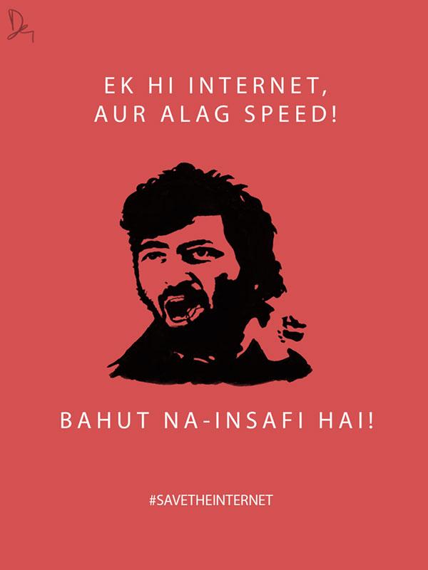 Net Neutrality Posters Gabbar