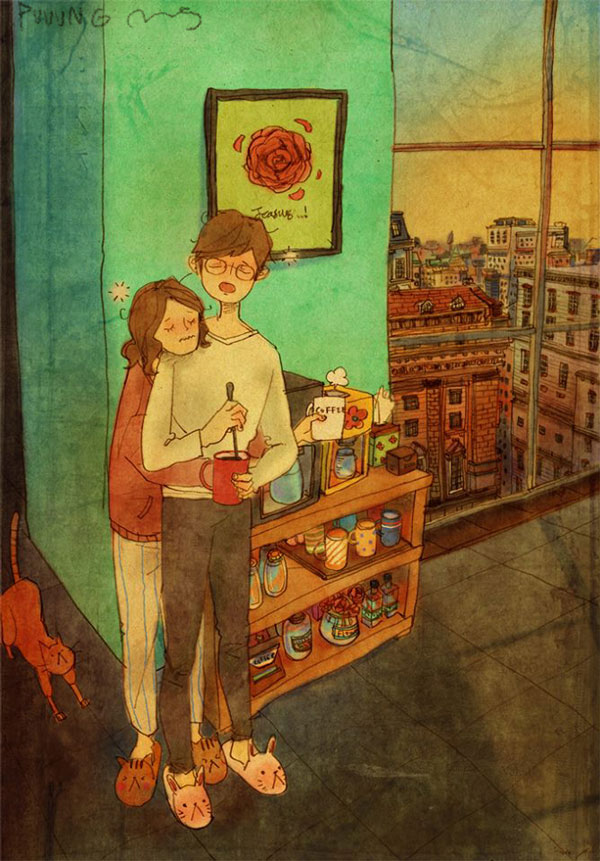 Love is in Little Things like Lazy hugs