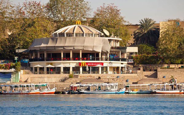 McDonalds on the banks of the river Nile