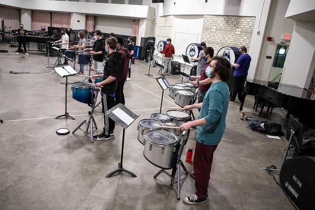 Spring 2021 Drumline Rehearsal