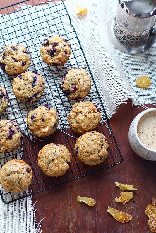 Blueberry Lemon Ginger Muffins
