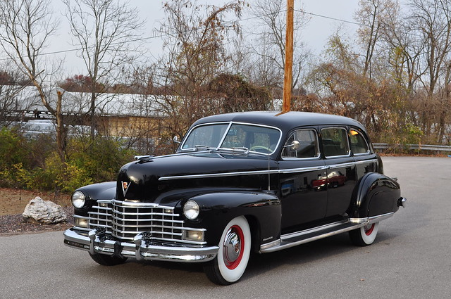 1940's Projects  1946 Cadillac, Series 751, Limo black white wall tires