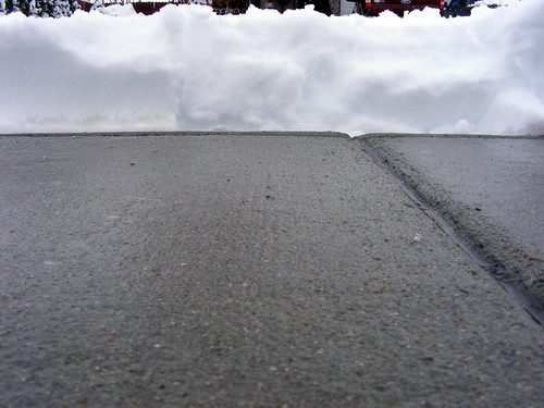 snow wall sidewalk pile curb snowday bugseyeview snowwasshoveled