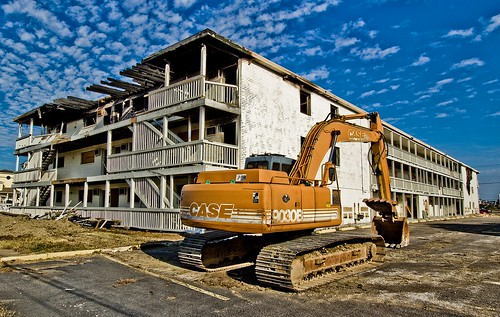 ocean virginia view norfolk motel demolition east vacant bayview backhoe eyesore