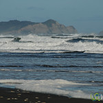 Breaking Waves on the Shoreline of Chiloe Island, Chile