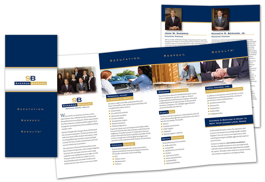 Firm Brochure Designed And Created By Vitalink And Lawyers Marketing Agency  For This Georgia Personal Injury And Workersu0027 Compensation Law Firm.