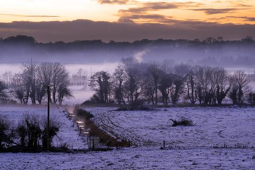 ireland winter snow castle landscape snowy cork barryscourt