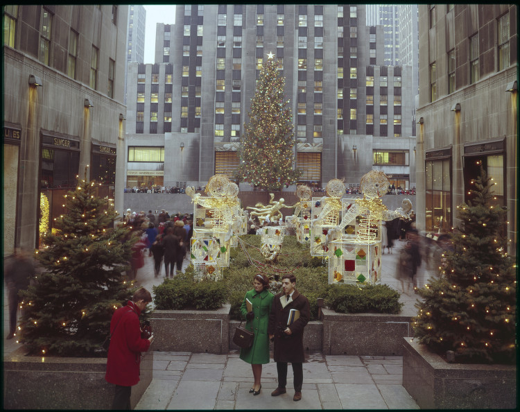 Christmas Lights, Channel Gardens, Rockefeller Center