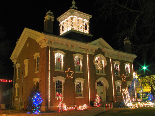 Coffee County Courthouse at Christmas - Manchester, TN