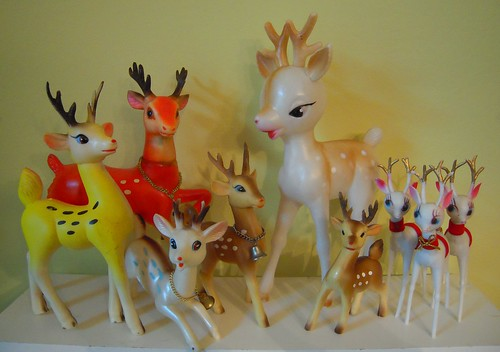 vintage reindeer friends by artgoodieshome