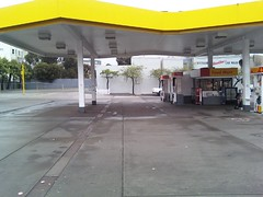 filling station, building, property, public space,