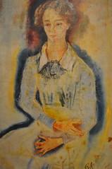 Oskar Kokoschka - Portrait of Lotte Franzos at Phillips Collections Art Gallery Washington DC