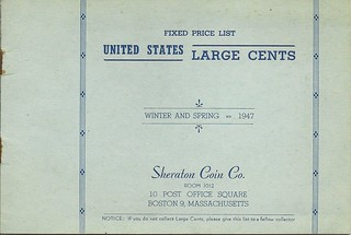 Sheraton Coin Co. Fixed Price List Winter/Spring 1947