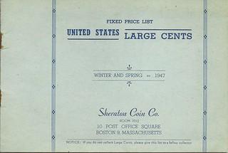 Sheraton Coin Co. Fixed Price List Winter/Spring 1947