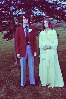 1974, Donna and AFS Student from Spain, Xavier.  his senior prom, Brookfield Highs School, Brookfiled, CT