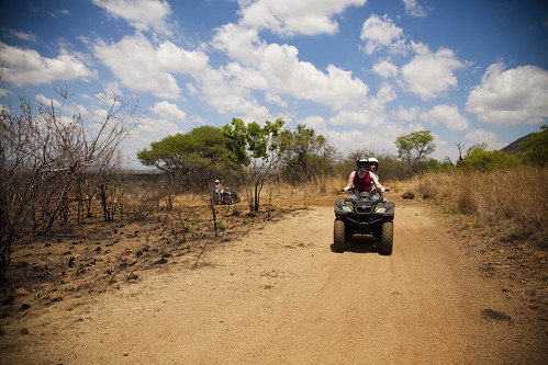 Quad bike at Sun City when visiting the Pilanesberg Nature Reserve close-be