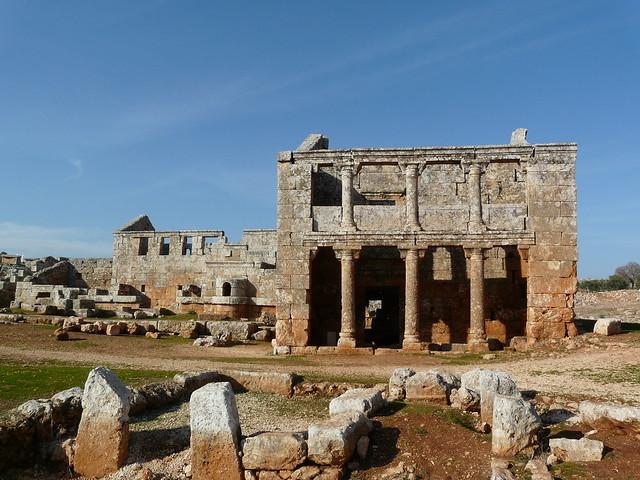 Las aldeas antiguas del norte de Siria. Sala de reuniones de Serjilla.