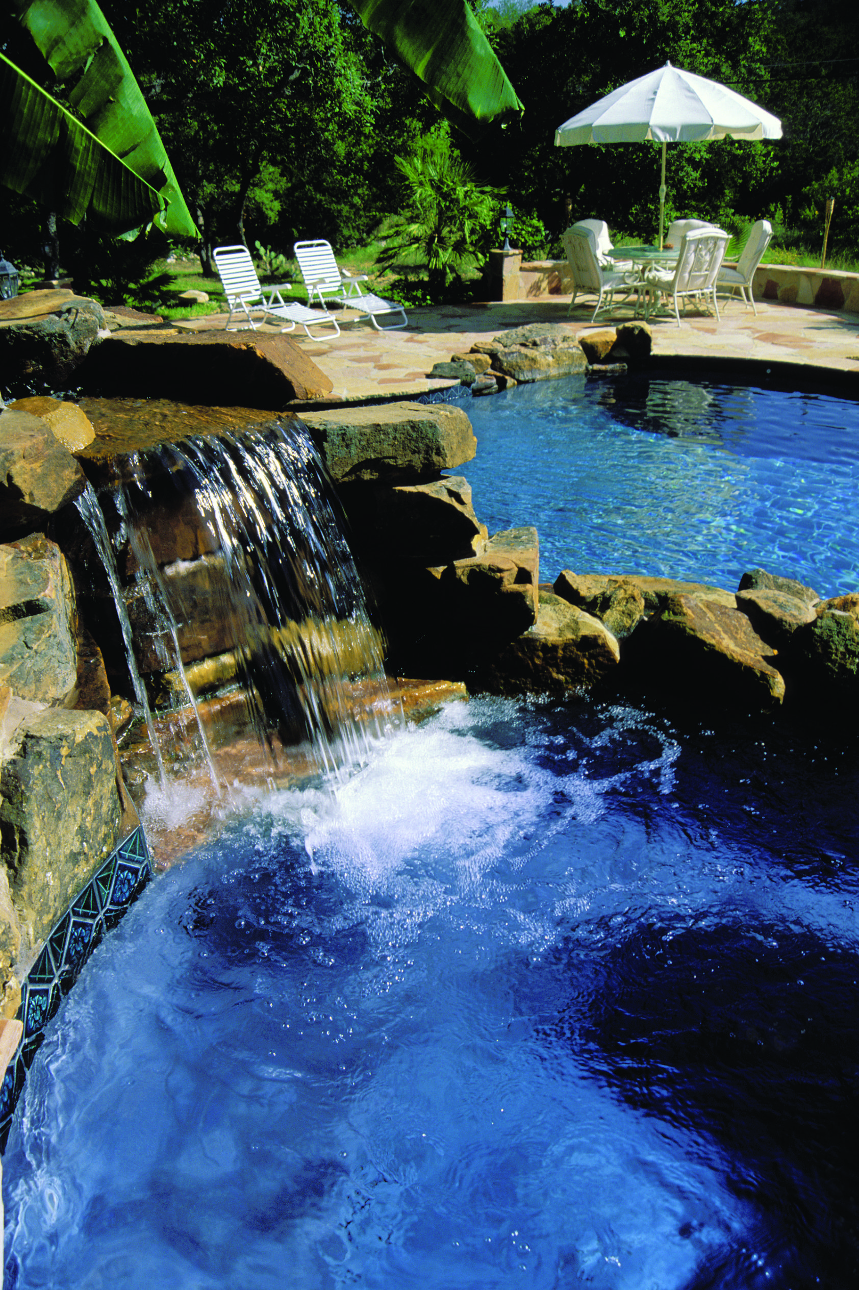 swimming pool with beautiful rock waterfall | Flickr - Photo Sharing!