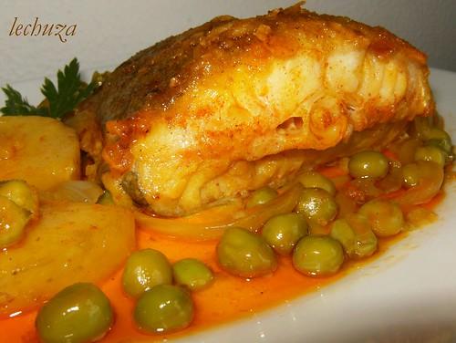 La cocina de lechuza recetas de cocina con fotos paso a paso bacalao guisado en cazuela - Bacalao guisado con patatas ...