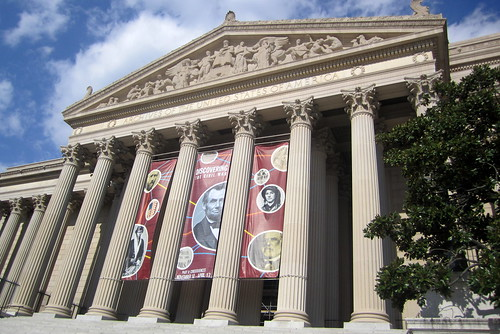 National Archives Building, Washington DC. Image courtesy of Flickr user wallyg.