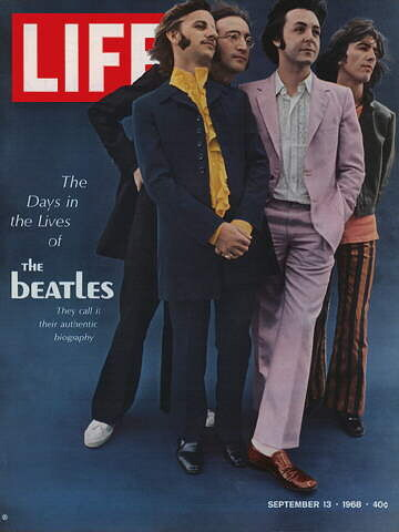 Cover of Life Magazine, September 13, 1968 with The Beatles.