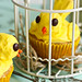 Lemon Poppy Seed Canary Cupcakes