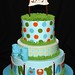 Blue Baby Shower Cake