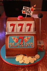 Blazing 7's Slot machine cake