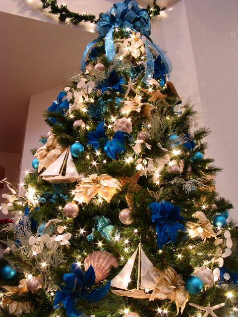 Blue ocean themed christmas tree flickr photo sharing - Blue themed christmas tree ...