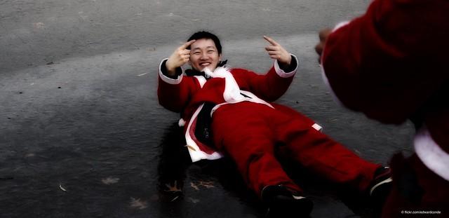 NYC - Central Park - Asian Santa!