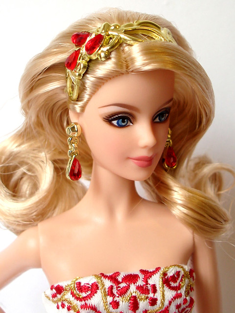 how to clean barbie dolls face