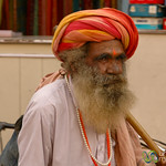 Sadhu Walking Through Bikaner, India