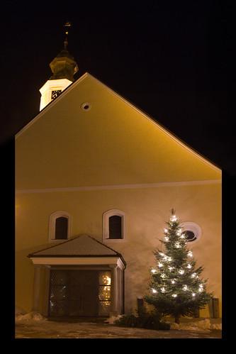 Münzkirchen Kirche Weihnachtsbaum