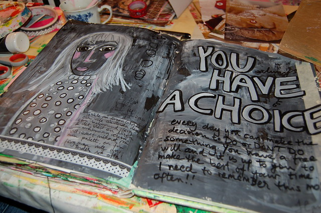 You have a choice - art journal page