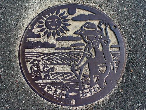 Yasaka Kyoto manhole cover(京都府弥栄町のマンホール)