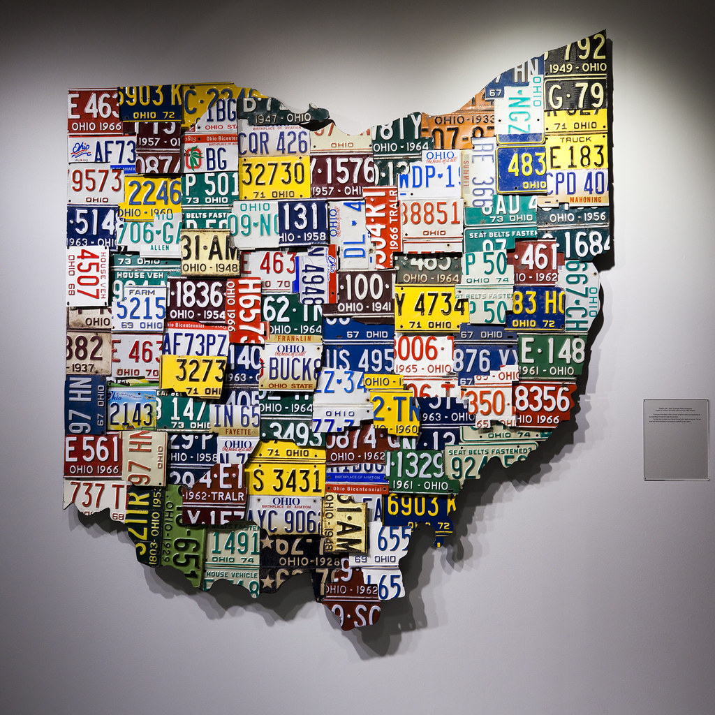 Station 88 - Ohio License Plate Sculpture