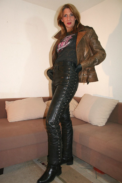 New Women In Leather Pants On Flickr  Wwwimgarcadecom  Online Image