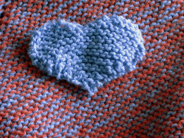 Knitting Garter Stitch Right Side : Garter Stitch Heart Flickr - Photo Sharing!