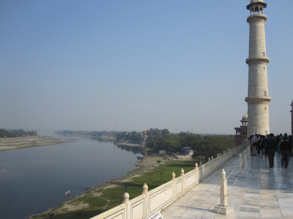 Downriver From Taj Mahal Agra India