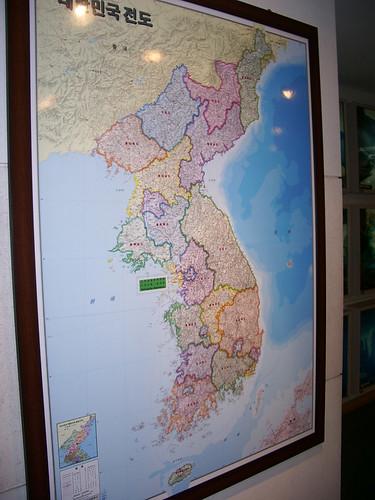 Map of Korea 대한민국전도 大韓民國全圖