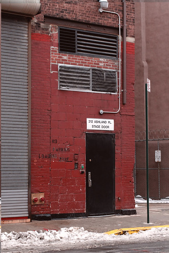 Stage door of BAM