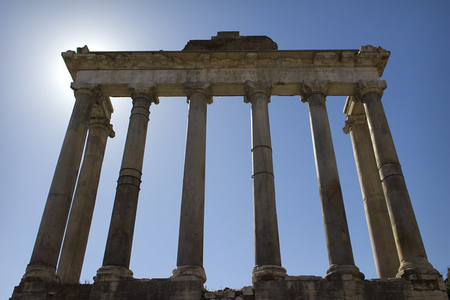 temple of saturn from Flickr via Wylio