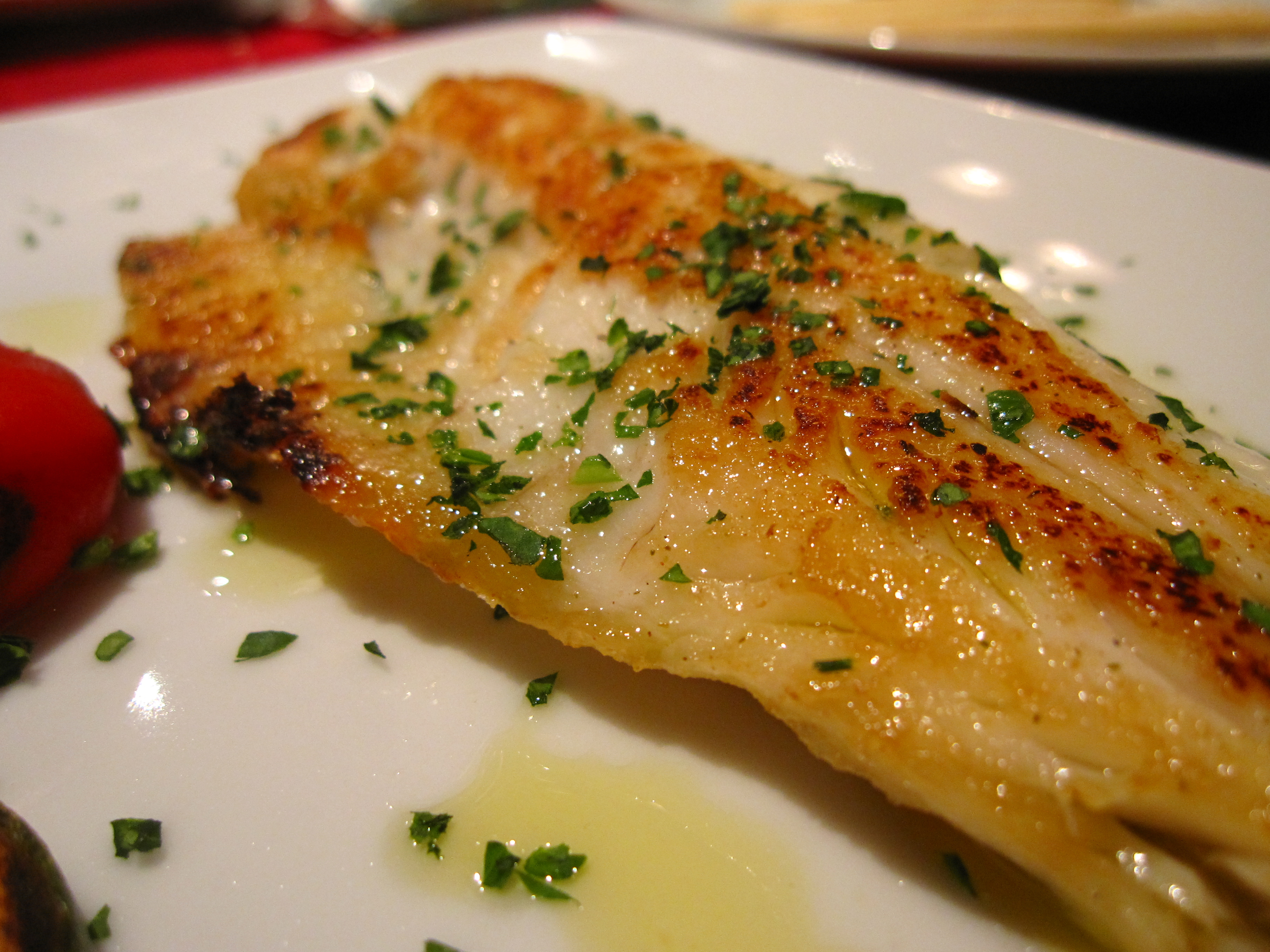 Baked fish in olive oil flickr photo sharing for Oven temperature for fish