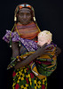 Albino baby girl and her Mwila mother - Angola