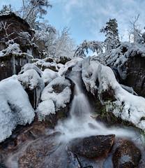 Burn O'Vat waterfall in winter (PC049491)
