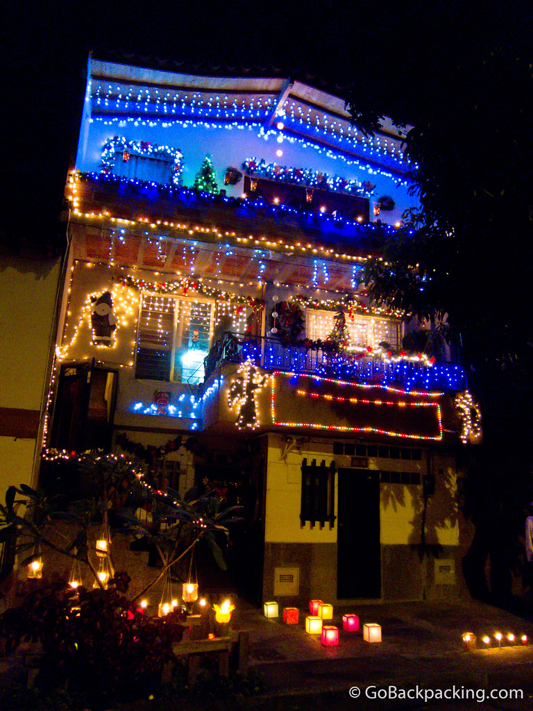 Holiday decorations in Envigado