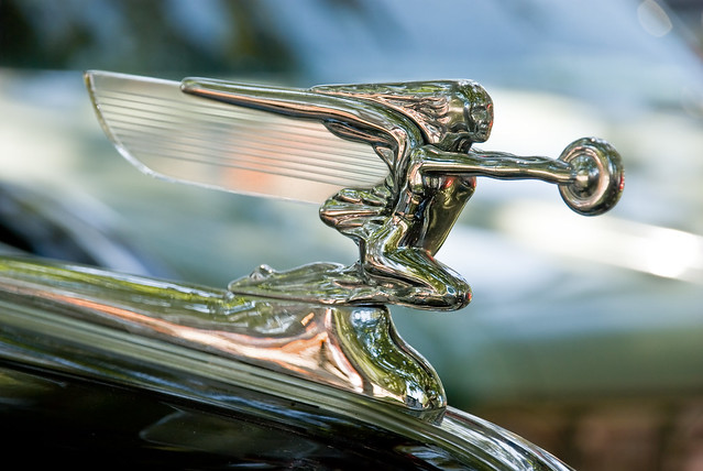 Packard Goddess with Glass Wing