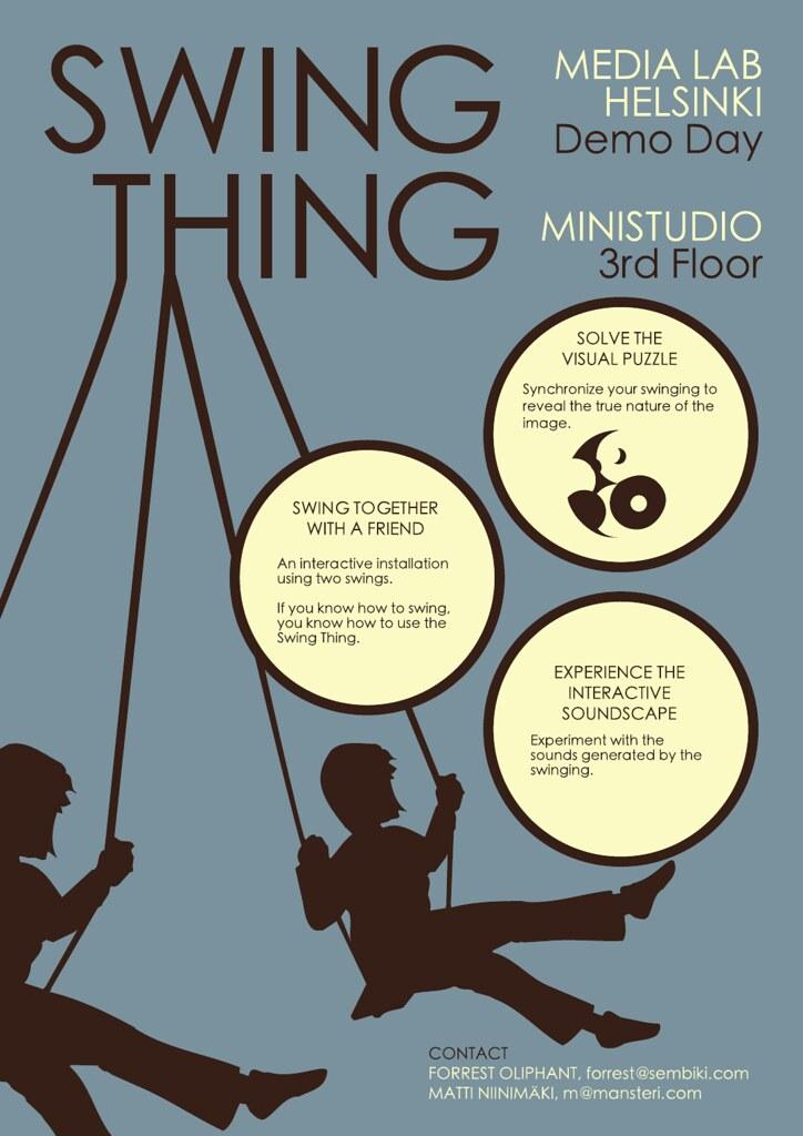 swing thing poster