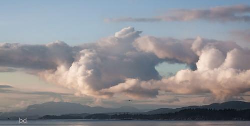 clouds dwarfed straitofgeorgia afternoonlight westcoastcanada sunshinecoastbc beautifulbc robertscreekbc travelbc ourdailytopic gripskw nikond300s barbdpics secheltpeninsulabc